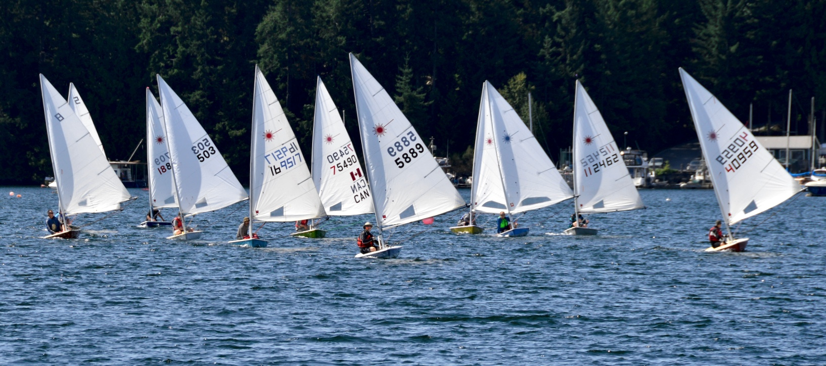 A downwind section of the 6th Annual Poise Cove Regatta July 16th, 2017