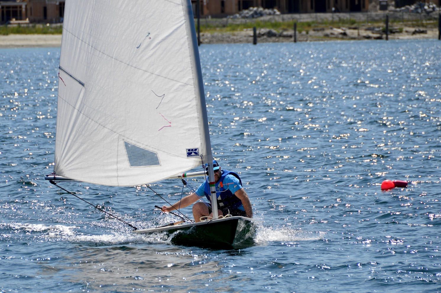 Ken Olson racing int he 6th Annual Poise Cove Regatta July 16th, 2017