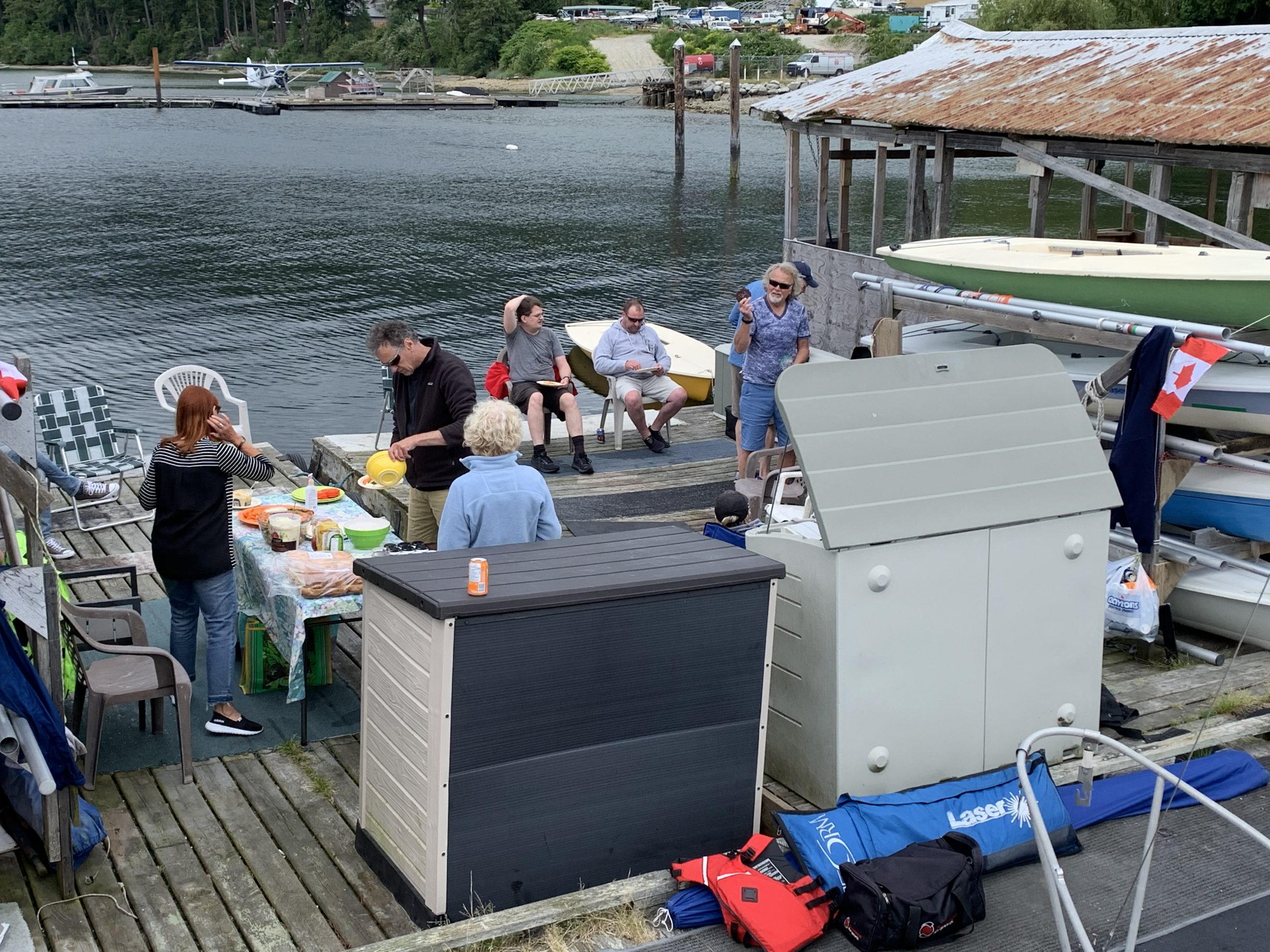 The SCSA Canada Day BBQ on the shores of Porpoise Bay