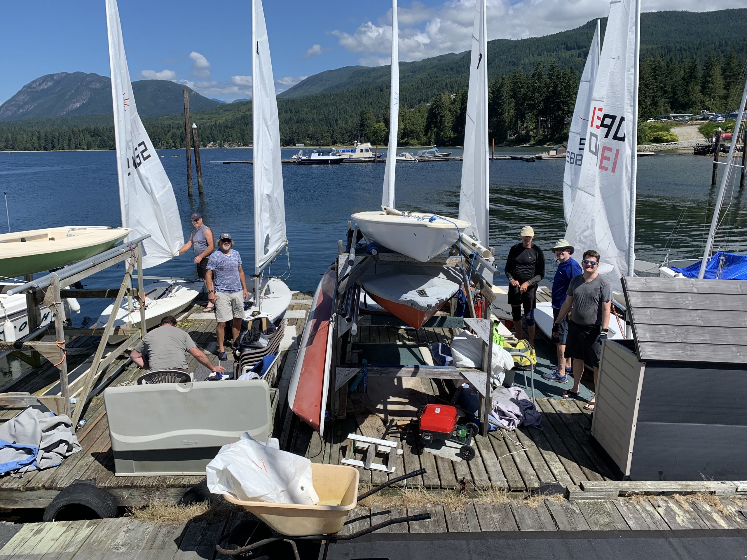 The getting the boats rigged up