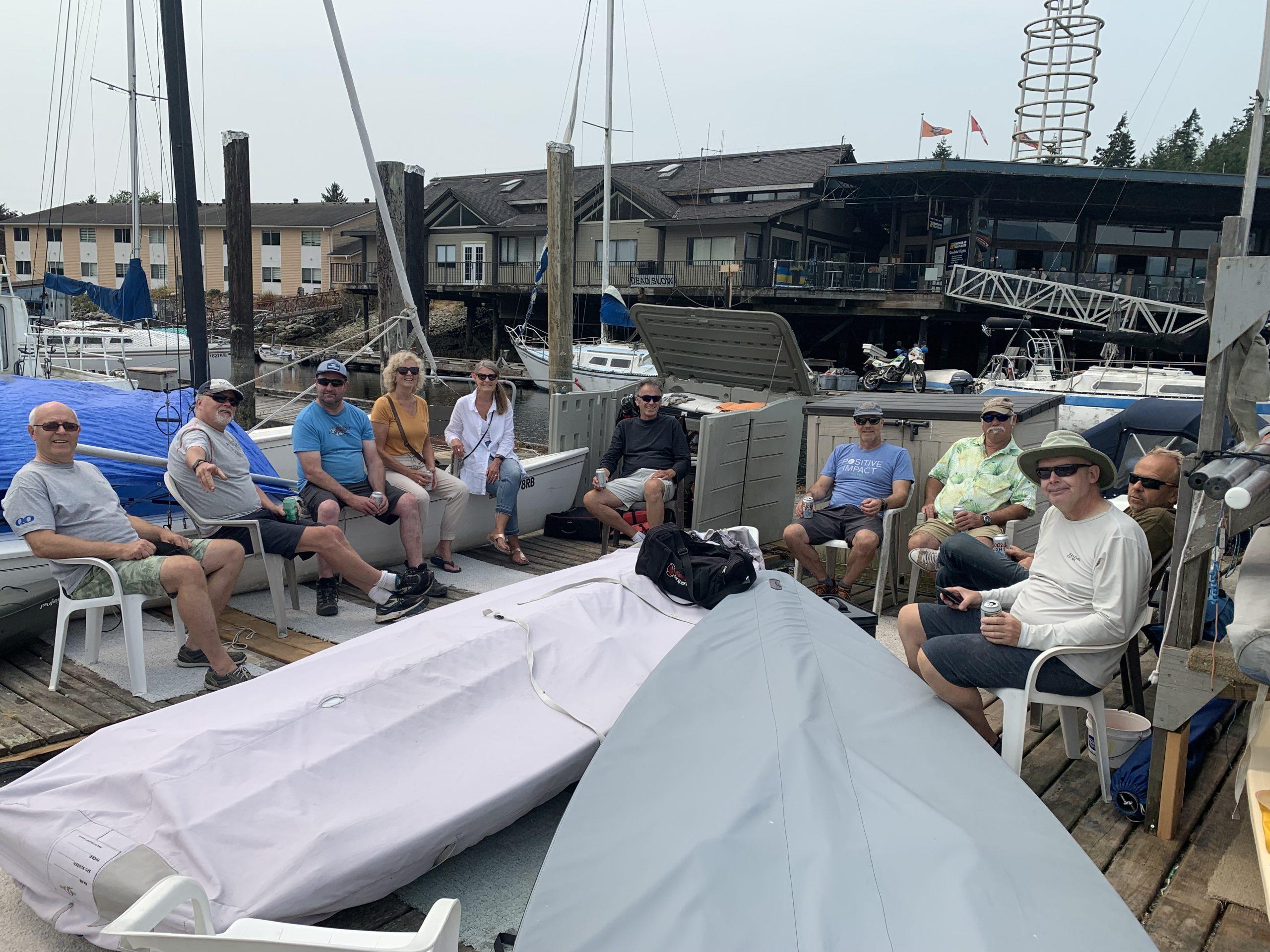 Members of the Laser Sailing Club